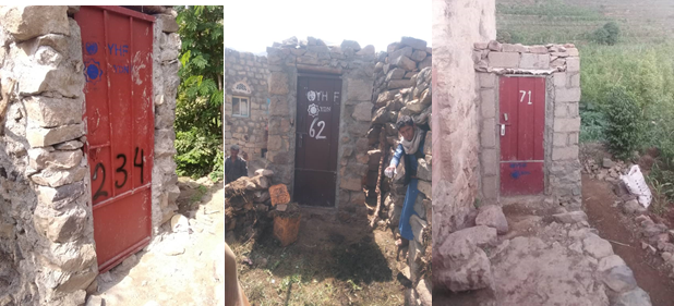 Latrines and awareness-raising contain the spread of diseases and maintain dignity
